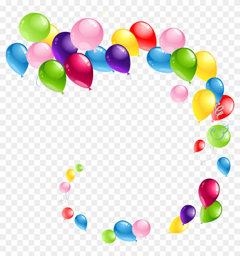 Colors Clipart Transparent Background - Clip Art Balloons Png #95107