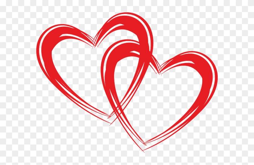 2 Hearts Clipart #95122
