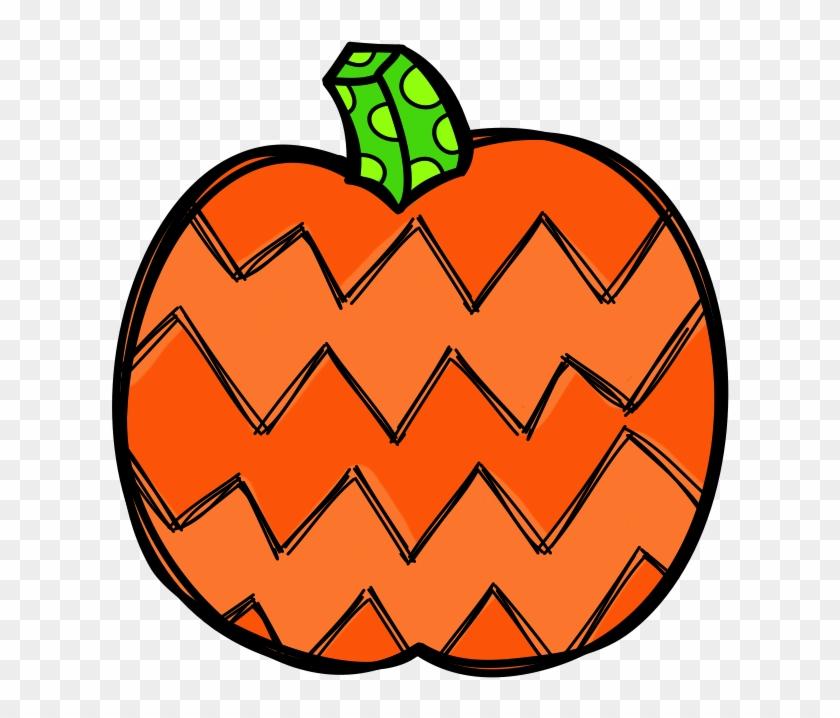 Patterned Pumpkin Clip Art - Patterned Pumpkin Clip Art #95149