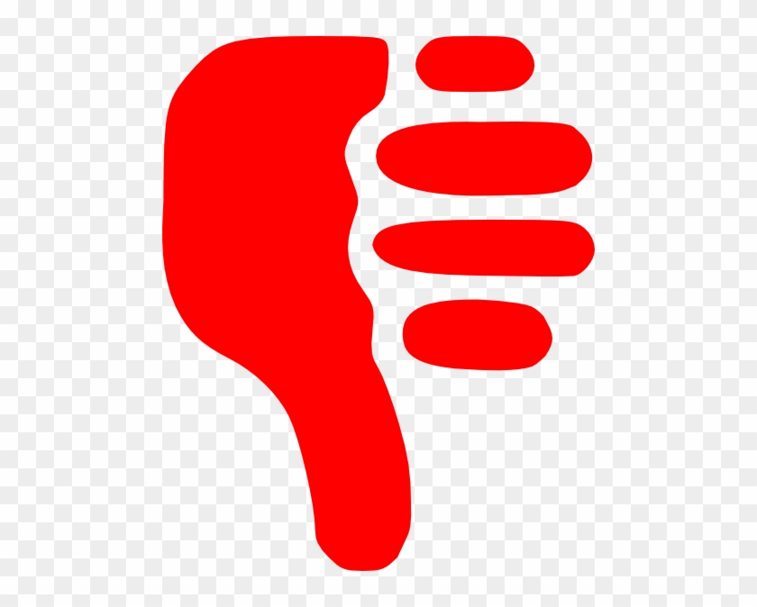 Smiley Face Thumbs Down Clipart - Red Thumbs Down Transparent Background #95150