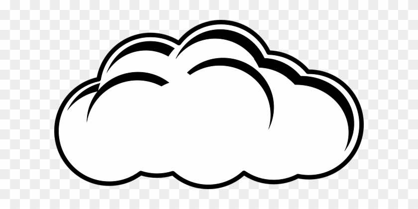 Cloud Outline Clip Art At Clipart Library - Gambar Awan Hitam Putih #95199