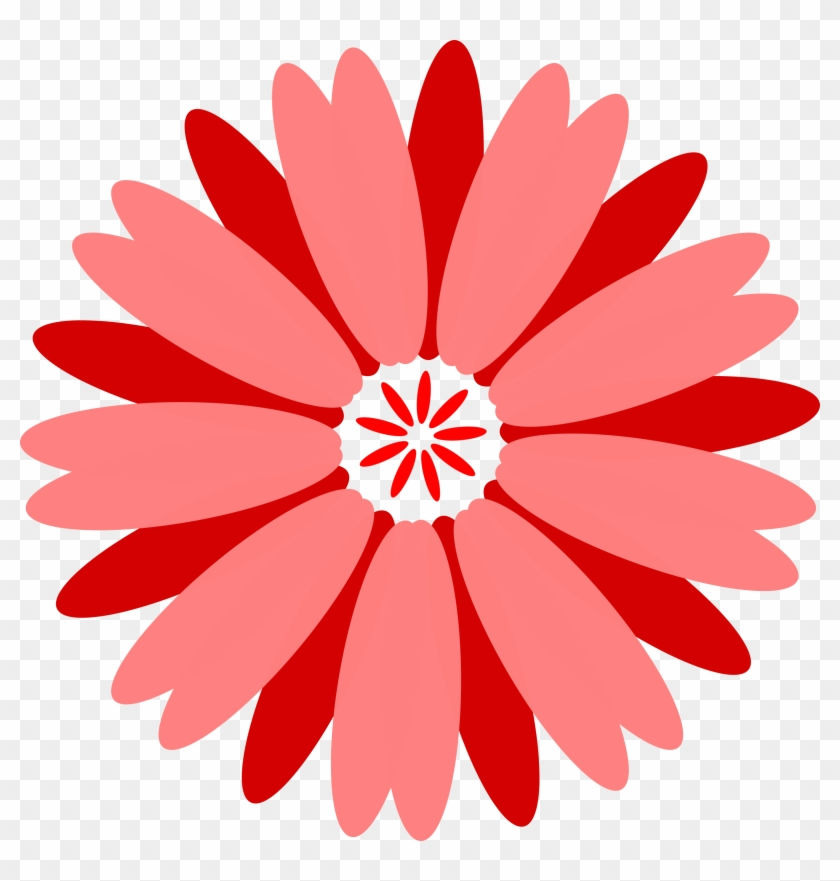 Red Flower Clipart Fower - Flower Images For Design #95203