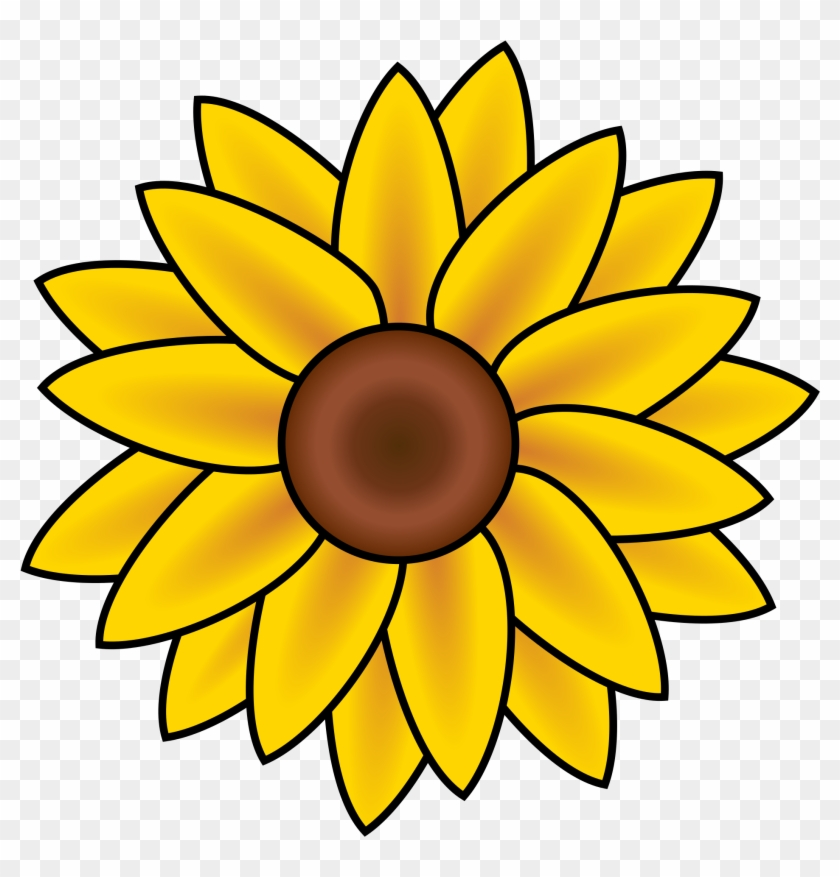 Sunflower Clipart Flower Head - Easy To Draw Sunflower #95229