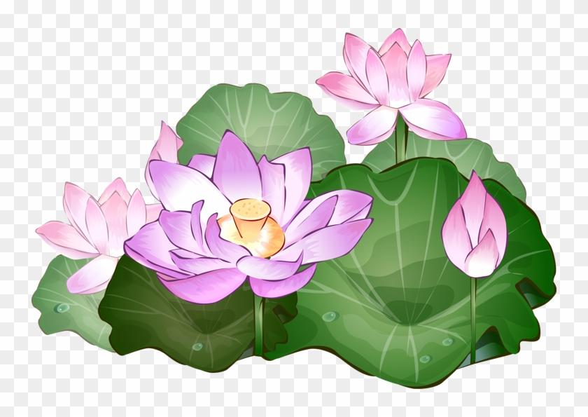 Lotus Flower Clipart - Lotus Flower Clipart Png #95247