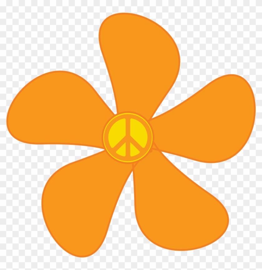 Groovy Flowers Clip Art - Hippie Flower Png #95298