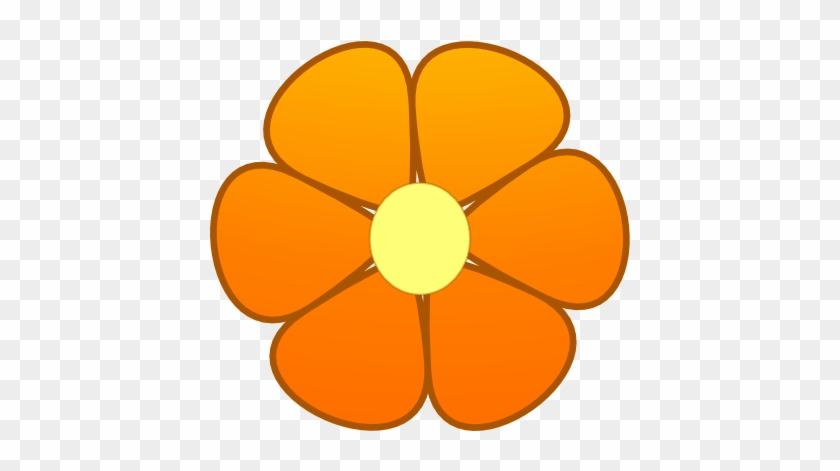 Orange Flower Clip Art - Orange Flower Clipart #95313