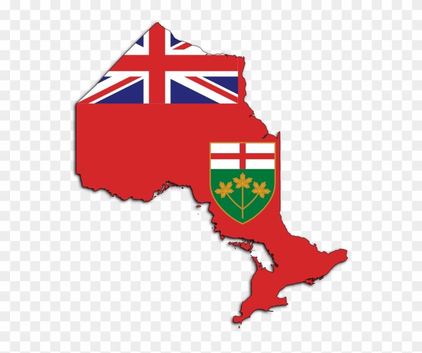 Canada Clipart Ontario - Ontario Flag Png #95377
