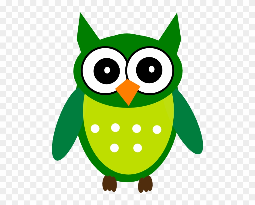 Owl, Clip Art, First Day Of Class, Illustrations, Owls - Owl Clipart Green #95412