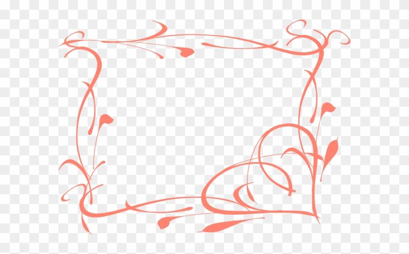 Coral Hearts Clip Art #95425