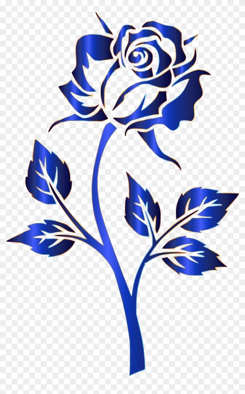 Blue Rose Clipart Transparent - Blue Rose No Background #95440