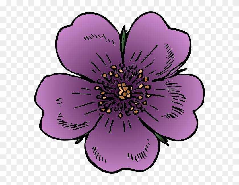 Wild Rose Clip Art - Wild Rose Clip Art #95462