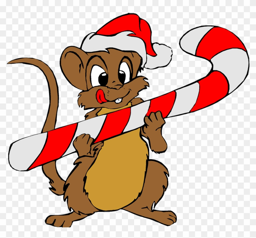 Christmas Holiday Clip Art Mouse Santa Red Hat - Merry Christmas To All, From Pepino The Italian Mouse #95466