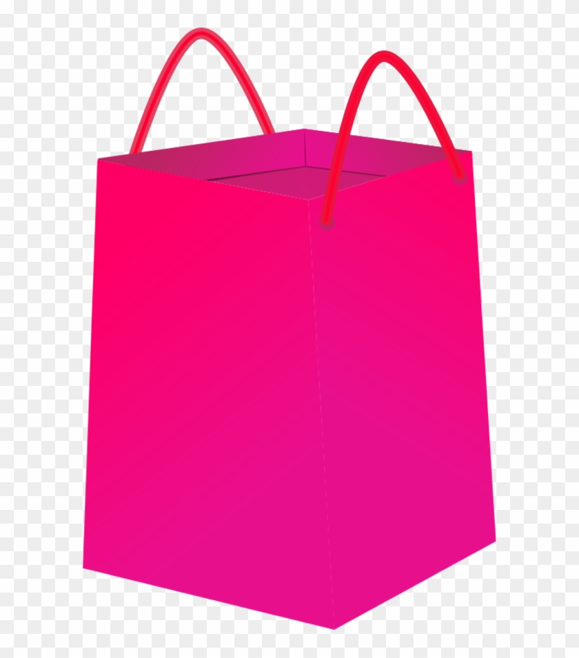Shopping Bag Clipart - Pink Shopping Bag Clip Art #95520