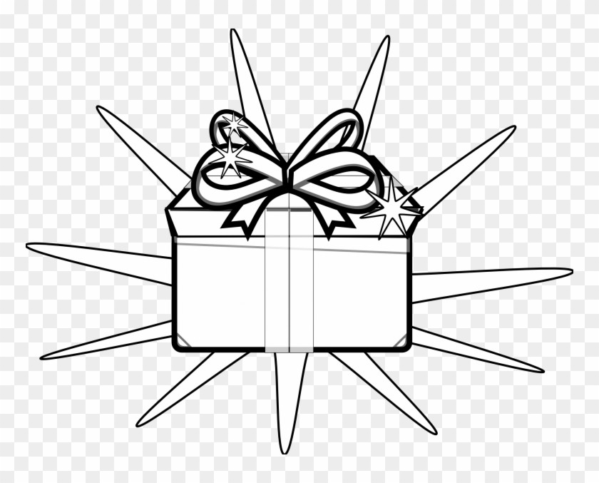 Present Black And White Free Holiday Clipart Black - Black And White Clip Art Of Presents #95529