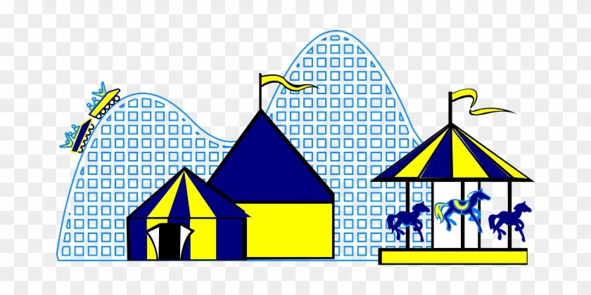Annual Fair Vanity Fair Tents Caroussel Ma - Amusement Park Clip Art #95587