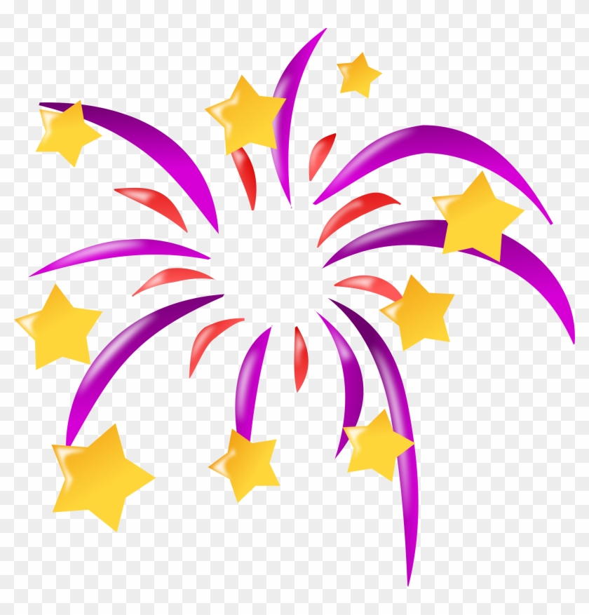 Festival Clip Art Many Interesting Cliparts - Cartoon Fireworks #95588