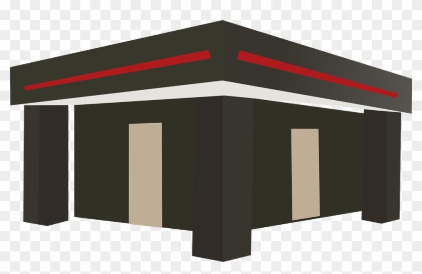 Flat Roof Terrace Platform Roof Fair Saloon Stand - Flat Roof Clip Art #95612