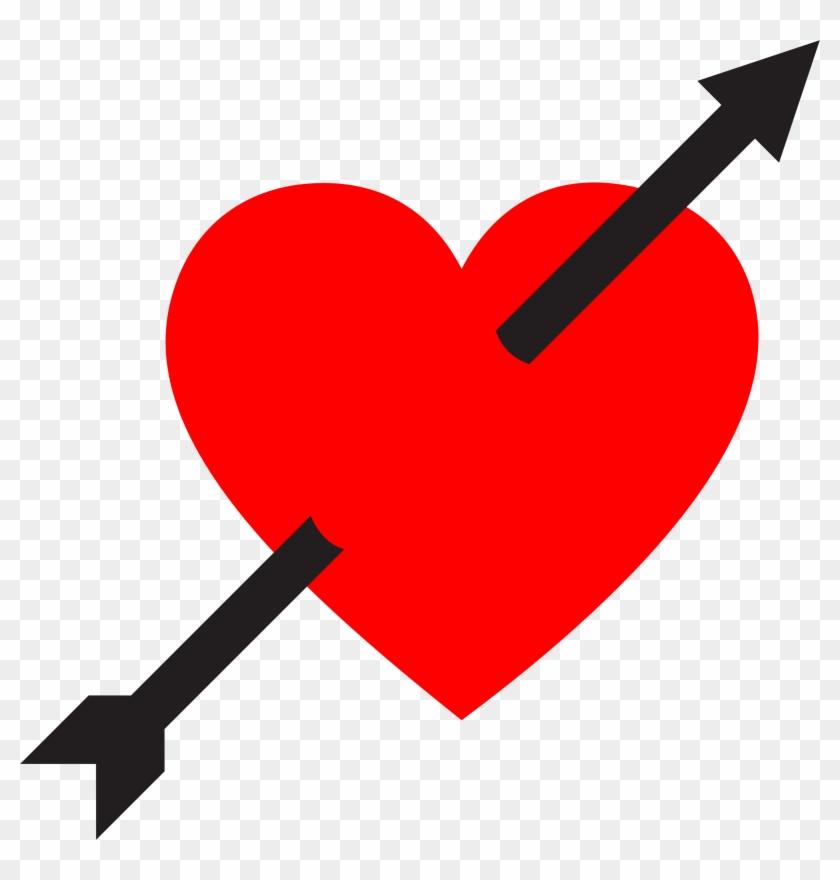 Heart Pierced By Arrow - Heart Pierced By Arrow #95627