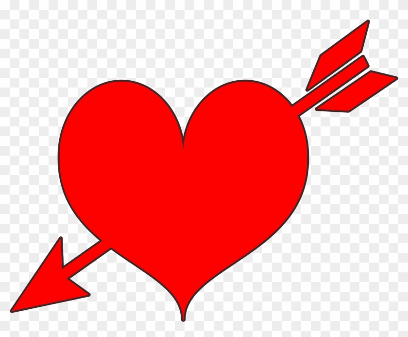 Heart Arrow Red Heart With Arrow Free Transparent Png Clipart