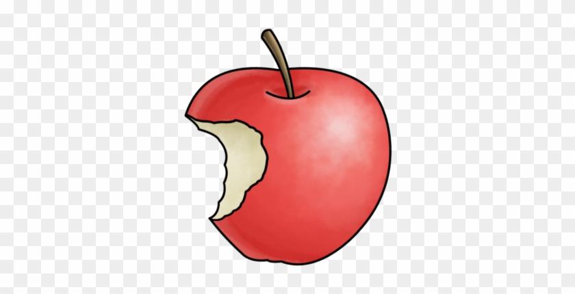 Clip Art Of A Bitten Apple Smart Exchange Usa - Cartoon Apple With Bite #95649