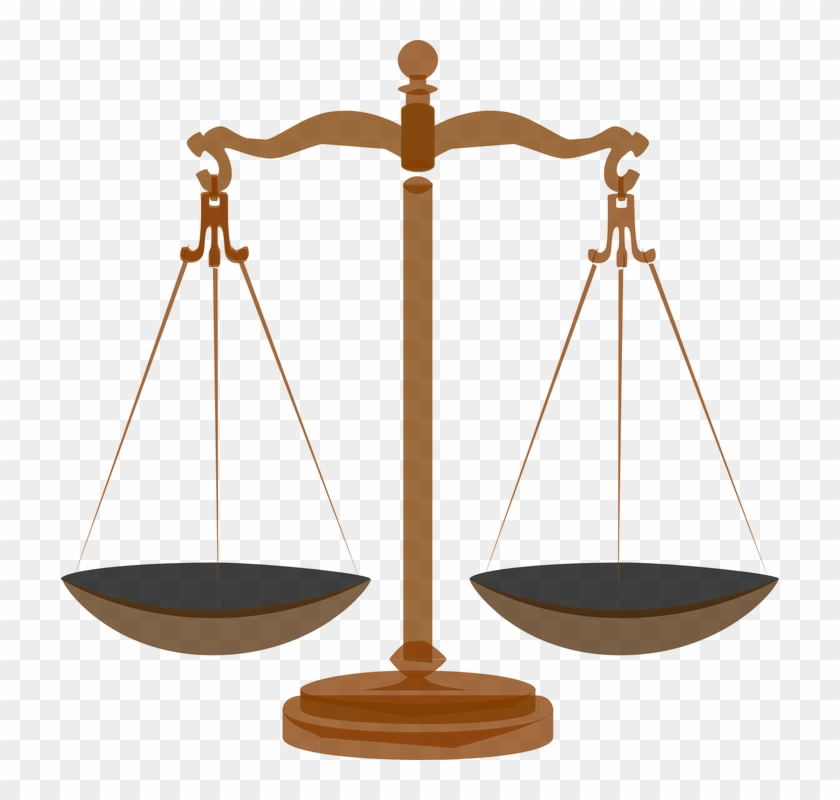 Scale Clipart Balance - Scales Of Justice Transparent #95654
