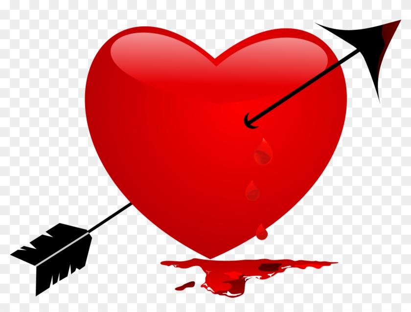 Heart Arrow Clip Art - Heart Arrow Clip Art #95706