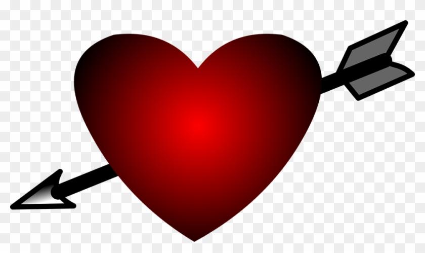 Heart Arrow Tattoo Svg Cartoon Love Design - Heart Cartoon #95723