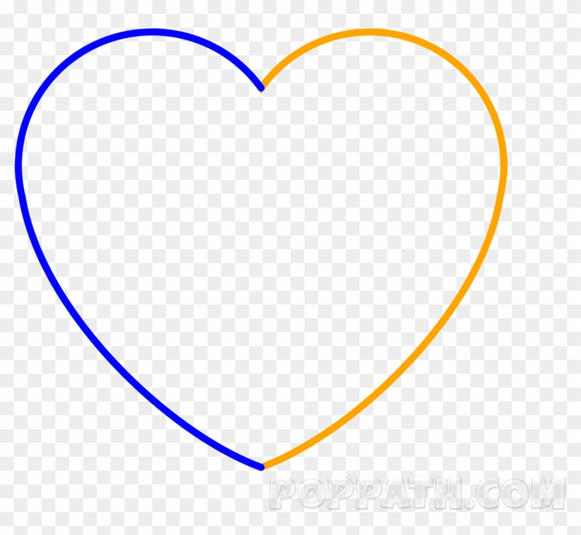 Complete The Heart By Drawing The Slanted C In The - Heart #95733