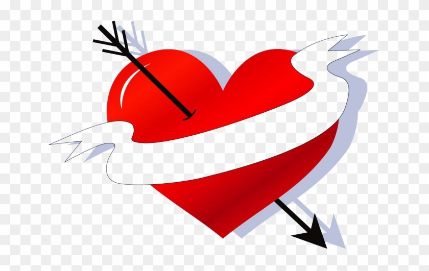 Heart Arrow Png Image Background - Vector Graphics #95767