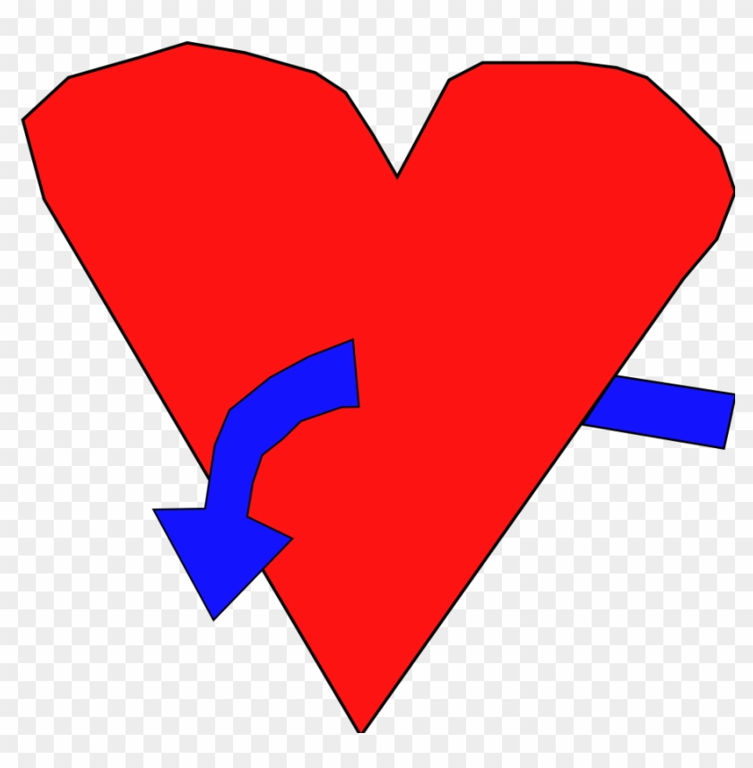 Hart With Curve Arrow Clip Art - Clip Art #95781