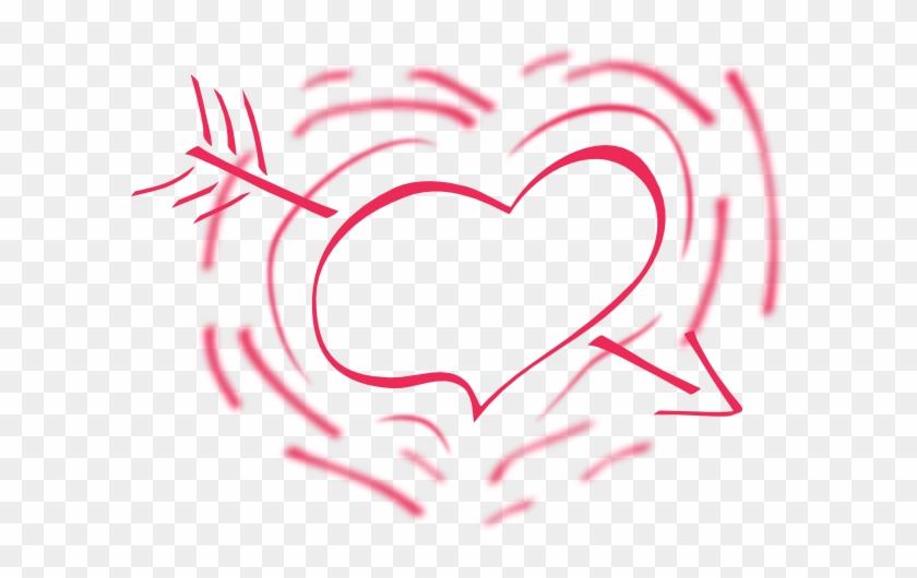 Black And White Heart Cartoon #95791