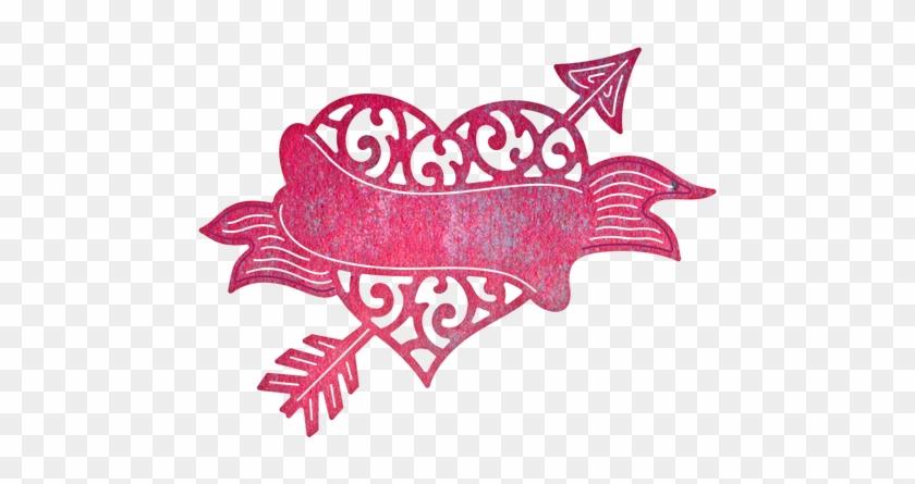 Cheery Lynn Designs Heart And Arrow Die Cut Out - Cheery Lynn Designs Heart And Arrow Die #95798