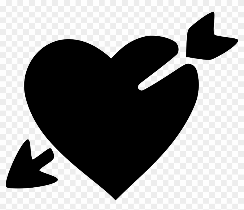 Love Heart Broken Valentine Day Arrow Cupid Comments - Heart With Arrow Svg #95858