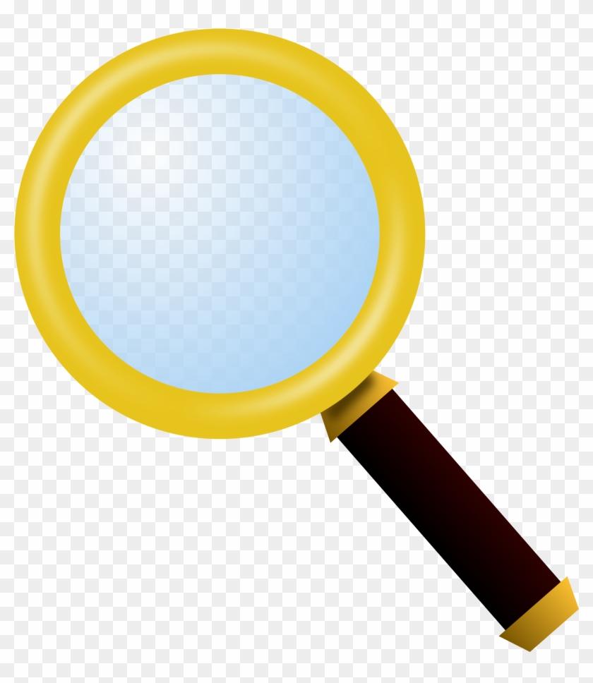 Magnifying Glass Clipart - Magnifying Glass Clipart Yellow #95890