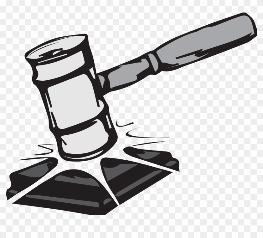Gavel2 - Judicial Review Black And White #95901