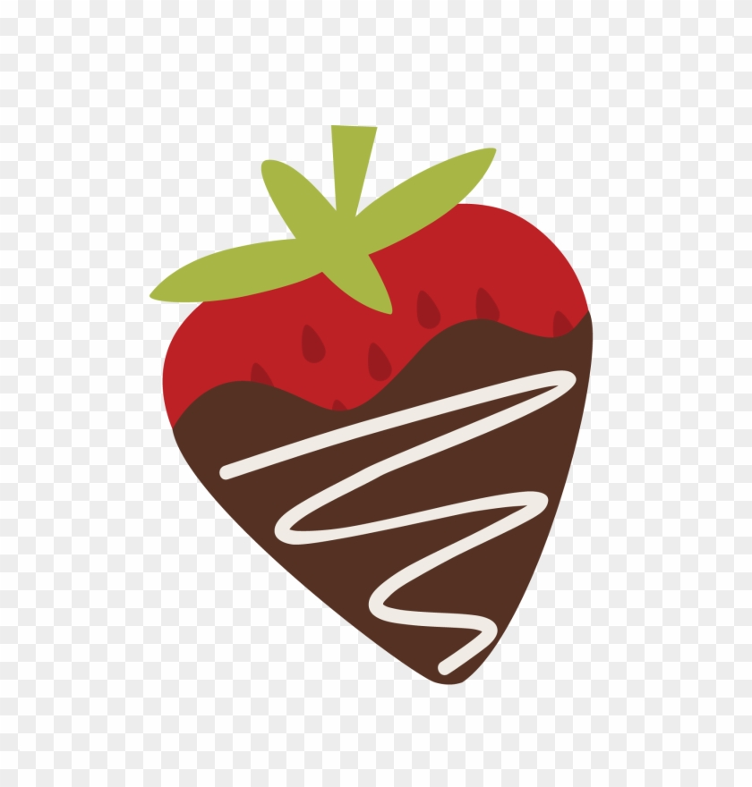 Chocolate Covered Strawberry Svg Free Svg Files Free - Cute Strawberry Clipart Png #95903
