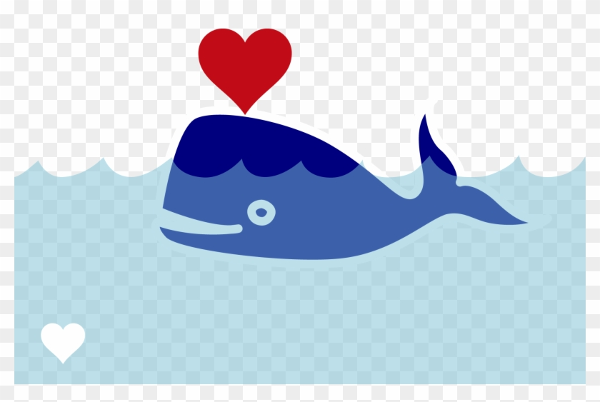 Wal Sperm Whale Blast Heart Valentine's Day - Love Whale #95915