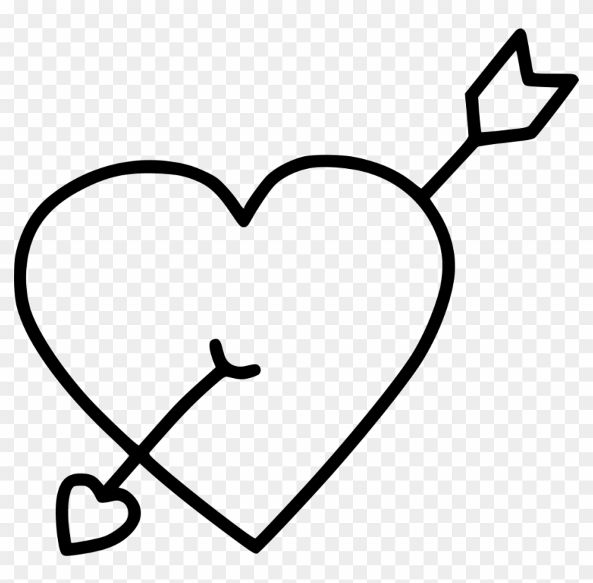 Arrow Heart Marriage Cupid Comments Line Free Transparent Png