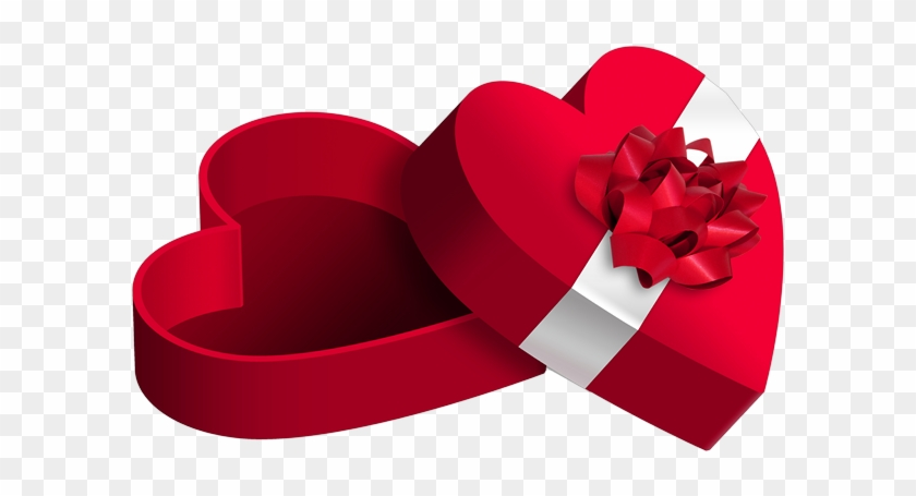 Cute Red Heart Gift Boxu200b Gallery Yopriceville - Boite Cadeau St Valentin #95980