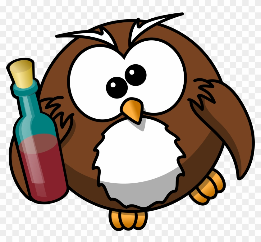 Bottle - Cartoon Owl #96000