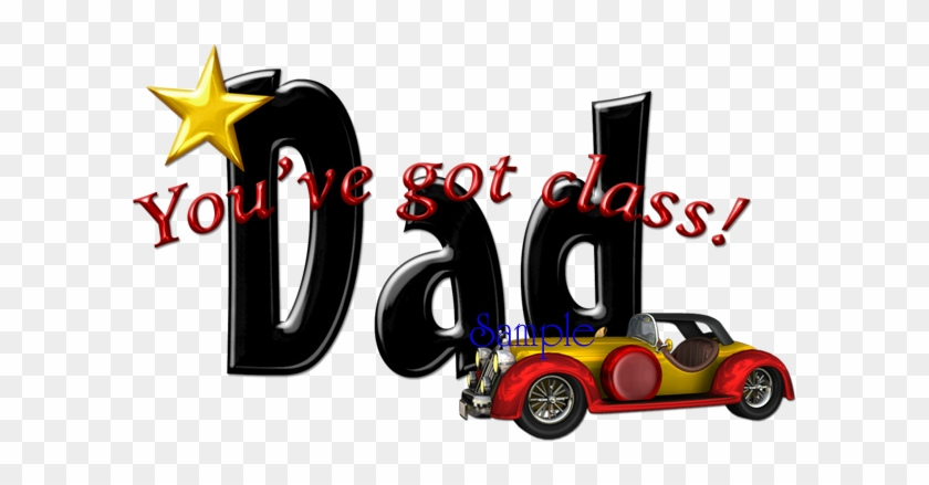 Classic Dad Word Art Red - Word Dad #96034