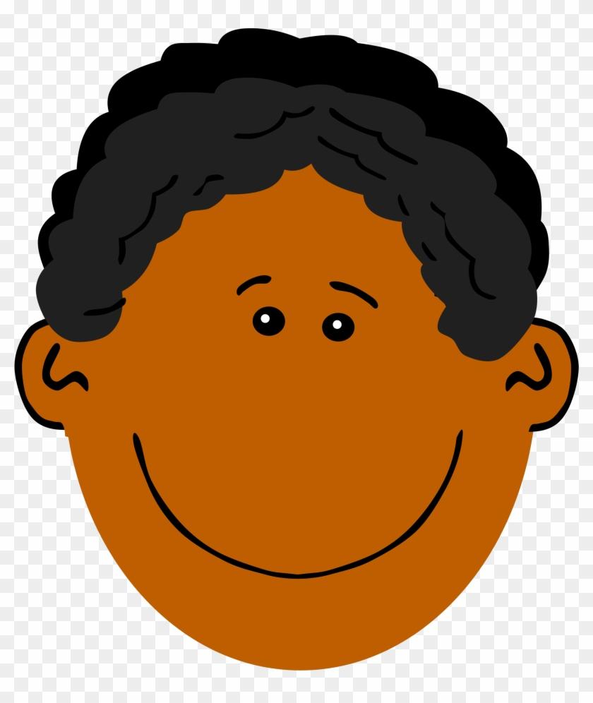 Clipart Dad With Dark Skin - Blonde Haired Boy Cartoon #96075