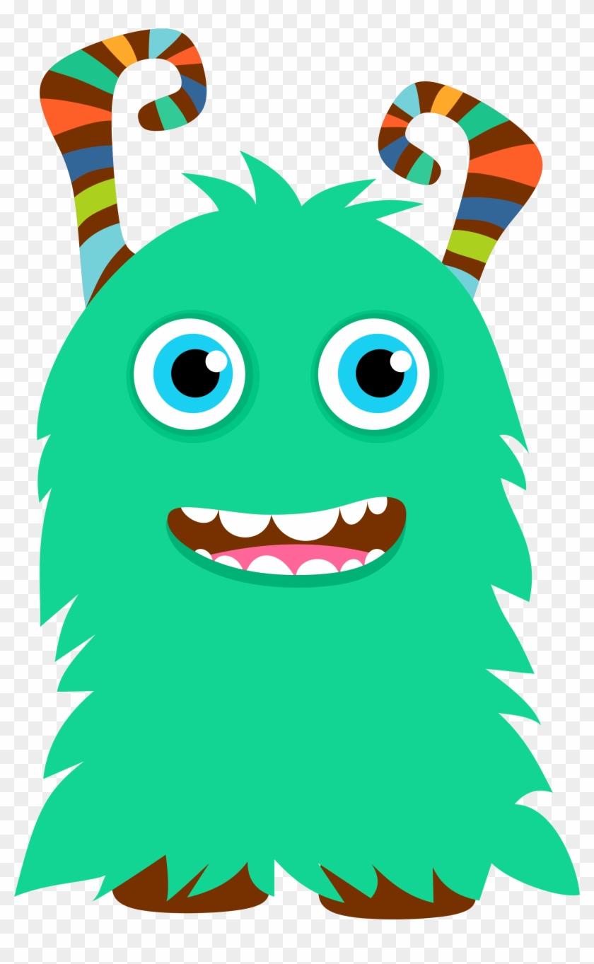 Little Monster Clip Art / Little Monster Clipart / - Cute Little Monster Clipart #96092
