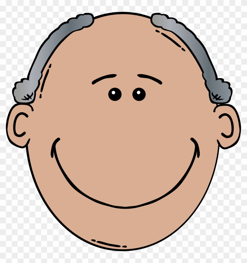 Father Face Clipart - Old Man Face Clipart #96099