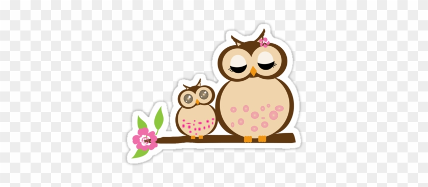 Clip Arts Related To - Mother Owl And Baby Owl #96104