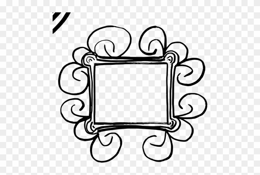 Nice Inspiration Ideas Flourish Clipart 718 Free Public - Black Hand Drawn Frame Png #96137