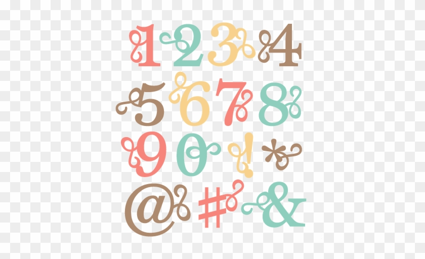 Flourish Number Set Svg Scrapbook Cut File Cute Clipart - Flourish Numbers #96144