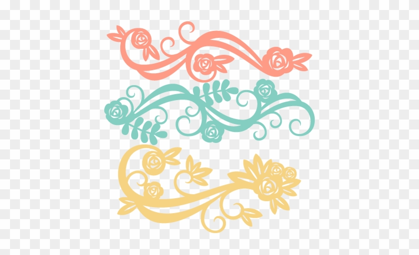 Flower Flourishes Svg Scrapbook Cut File Cute Clipart - Flower Svg File Free #96162