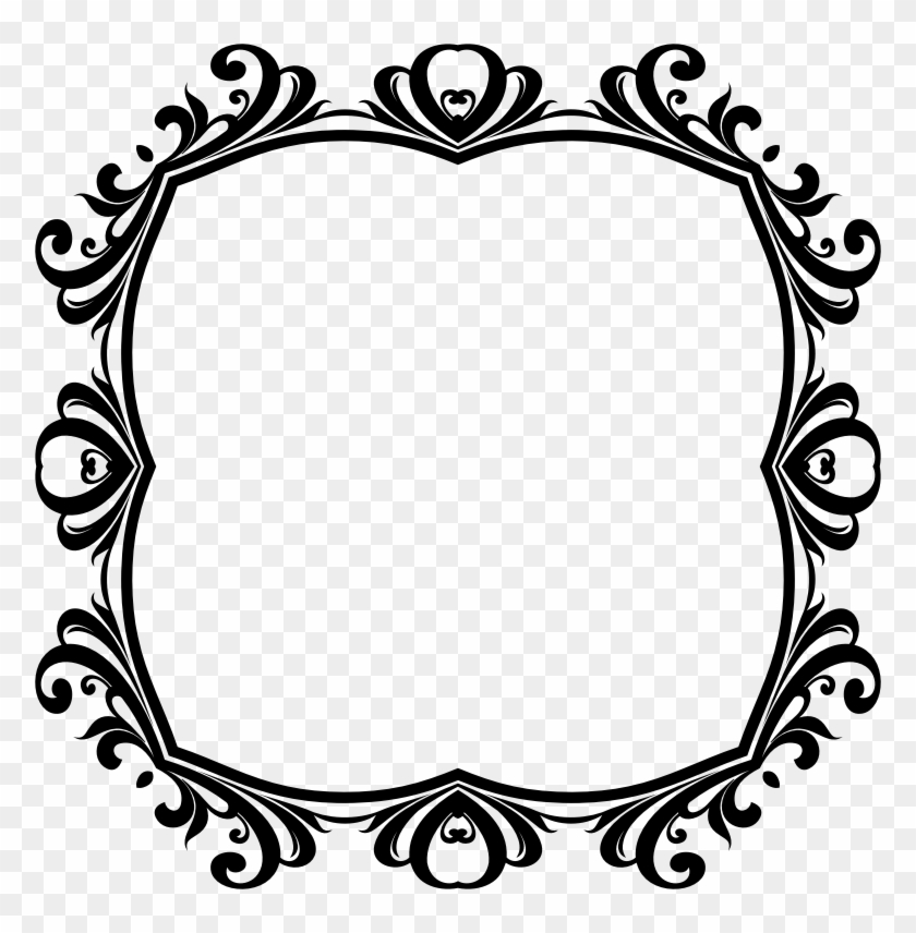 Framed Painting Clipart Black And White Clipart Decorative - Picture Frame #96180