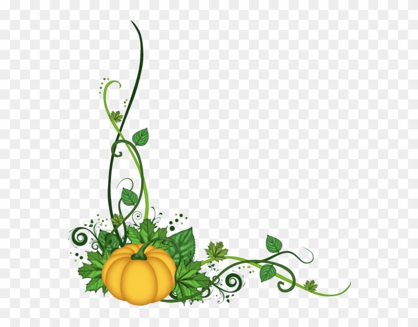 Pumpkin Corner Flourish Png - Pumpkin Corner Border Png #96222